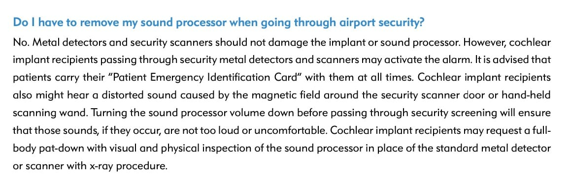 implante coclear detector metais
